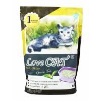 LOVE CAT LITTER ТОФУ еко Котешка Тоалетна ЗЕЛЕН ЧАЙ