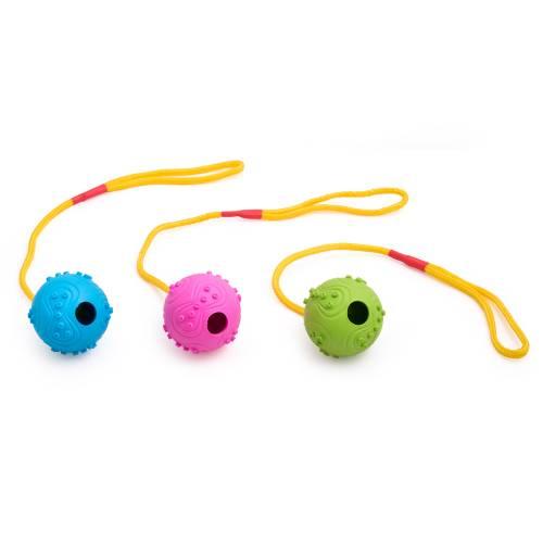 Дърпалка с гумена топка с бодли