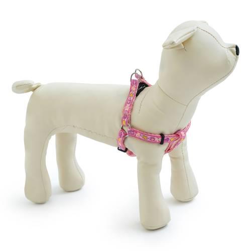 Нагръдник за куче и коте от изкуствена лента с пластмасова тока, регулиращ се,  FANCY DOG ЛУКС розово