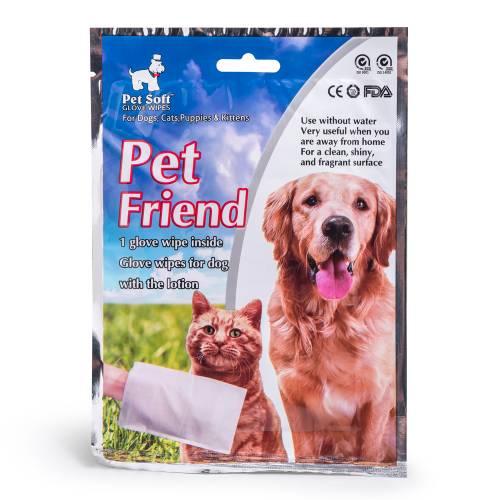 Pet Friend Мокри кърпи - ръкавица за почистване