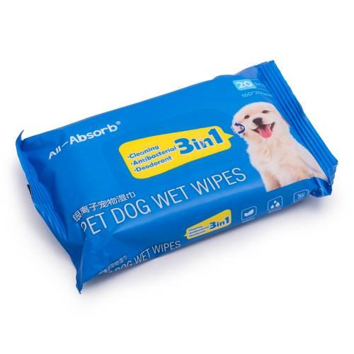 Мокри кърпи антибактериални за домашни любимци, 20бр в пакет