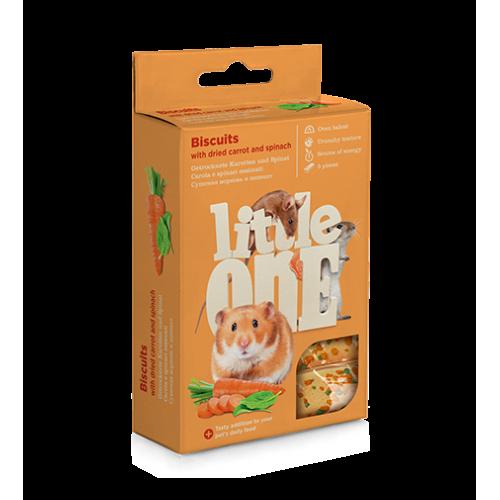 LITTLE ONE бисквити с морков за дребни гризачи  5бр. по 7 гр в пакет